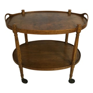 Drexel Heritage Oval Tea Cart For Sale
