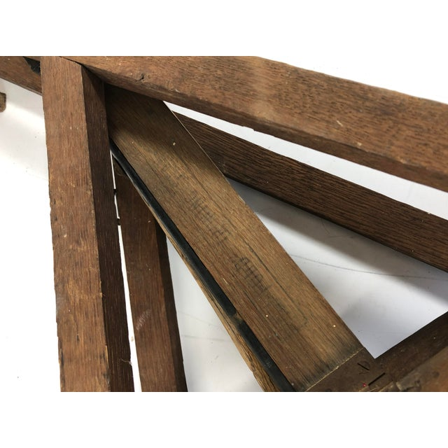 Vintage Industrial Wood Table Bases - a Pair For Sale - Image 9 of 12