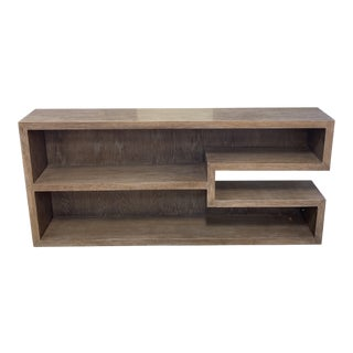 Custom Wood Modern Geometric Bookcase For Sale