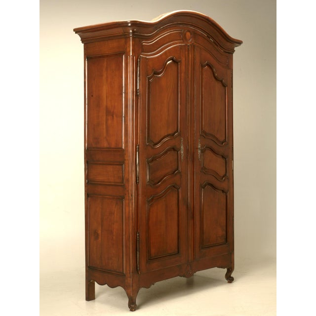 Circa 1800s French Louis XV Style Cherry Wood Armoire - Image 2 of 10