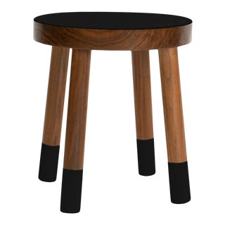 Poco Kids Chair in Walnut With Black Finish For Sale