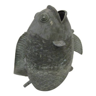 1990s Vintage Bronze Fish Fountain For Sale