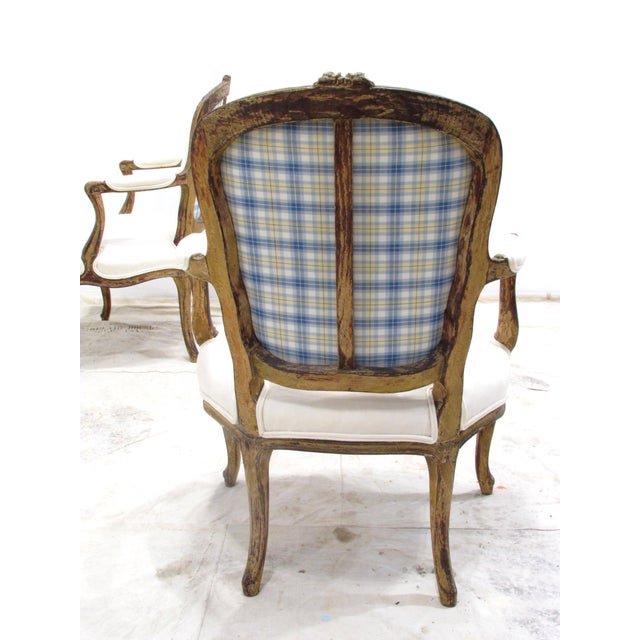 Mid 19th Century Louis XV Style Fauteuils - A Pair For Sale - Image 5 of 11