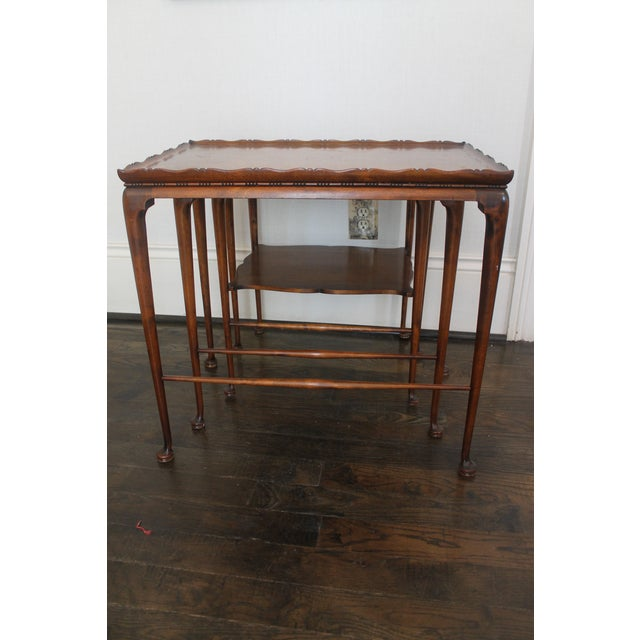 19th Century English Nesting Tables - Set of 3 For Sale - Image 13 of 13
