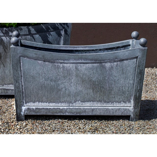 English Chinon Planter, Small, Zinc For Sale - Image 3 of 3