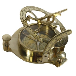 Solid Brass Sundial Compass