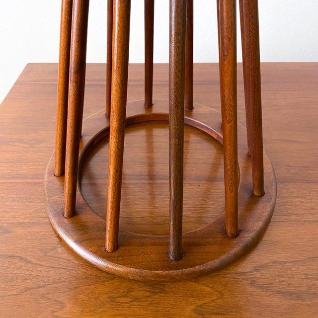 Brown Mid Century Walnut Stool by Arthur Umanoff For Sale - Image 8 of 10