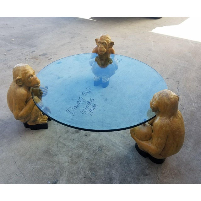 1970s Vintage Italian Monkey Glass Coffee Table For Sale - Image 4 of 11