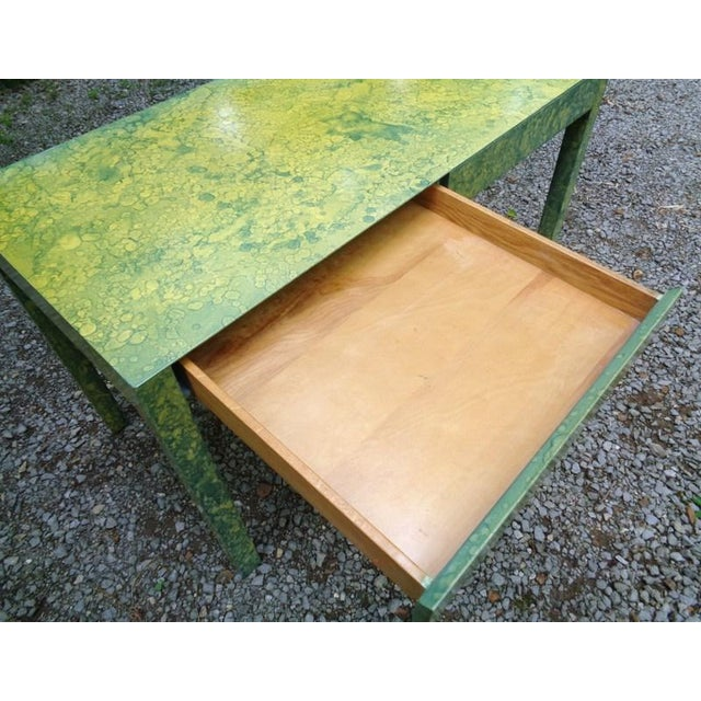 C.1967 Designer Raindrop Finish Vanity Desk Console Table For Sale - Image 11 of 13