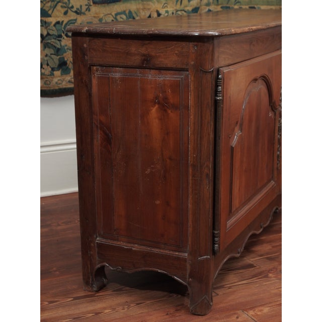 Brown Louis XIV Fruitwood Buffet For Sale - Image 8 of 11