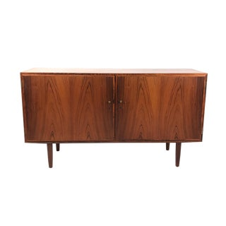 Vintage Danish Rosewood Swing Door Cabinet For Sale