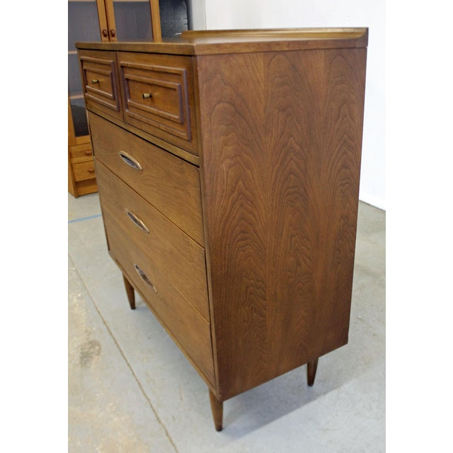 Mid 20th Century Mid-Century Modern Broyhill Premier Sculptra Tall Chest of Drawers For Sale - Image 5 of 13