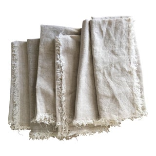 Terrain Flax Linen Napkins, Set of 6 For Sale