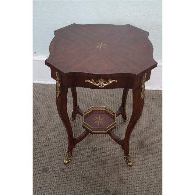 Maitland Smith Louis XV Style Brass Ormolu Side Table - Image 3 of 10