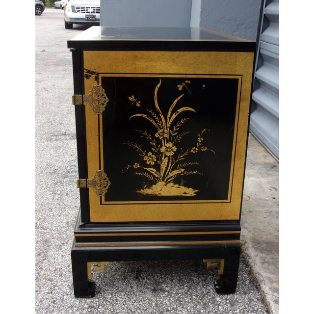 Vintage Asian Style Cabinet With Brass Hardware - Image 7 of 11