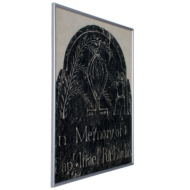 Paper Early New England Gravestone and Marker Rubbings - Set of 3 For Sale - Image 7 of 7