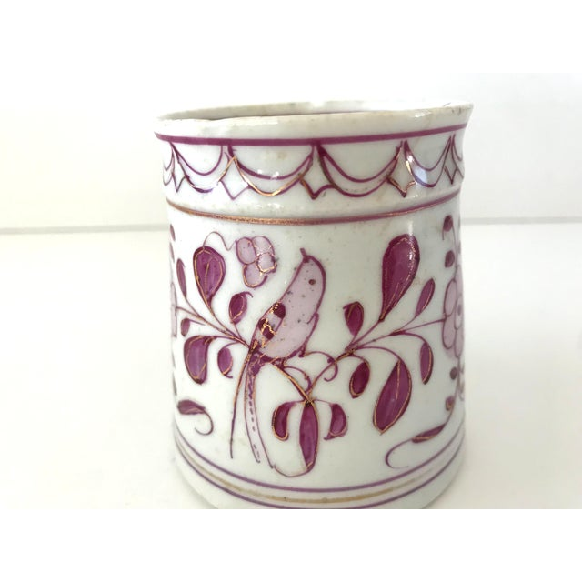 Early 18th-Century Meissen Purple Indian Coffee Can For Sale In San Francisco - Image 6 of 10