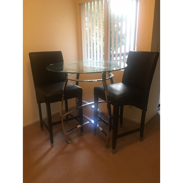 Pub Style Dining Set With Two Chairs - Image 3 of 4