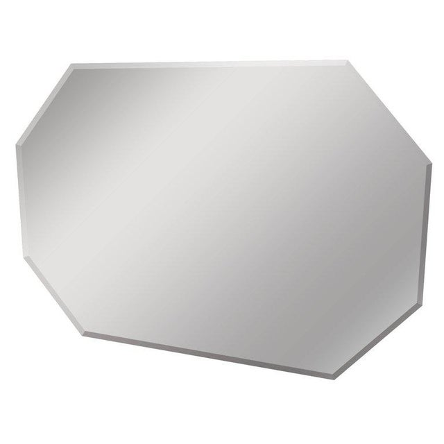 Mid-Century Modern Hexagon Geometric Beveled Wall Mirror - Image 8 of 8