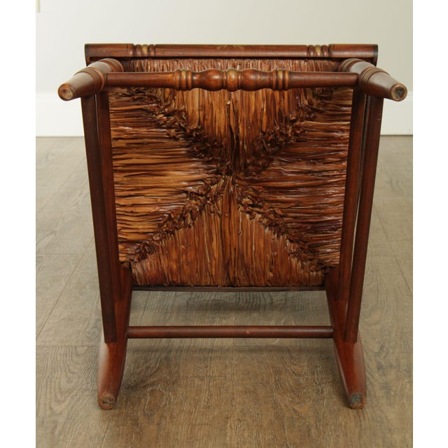 "Wood Hitchcock Norman Rockwell ""Freedom of Worship"" Limited Edition Side Chair For Sale - Image 7 of 13"