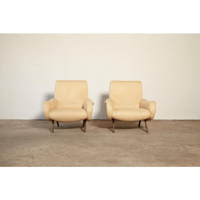 Mid-Century Modern Original Marco Zanuso Lady Chairs, Arflex, Italy, 1960s for Reupholstery For Sale - Image 3 of 10