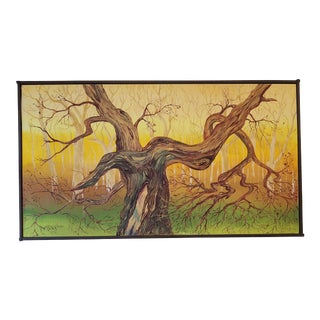 1965 Abstract Madrona Tree Oil Painting by Charles Radke, Framed For Sale
