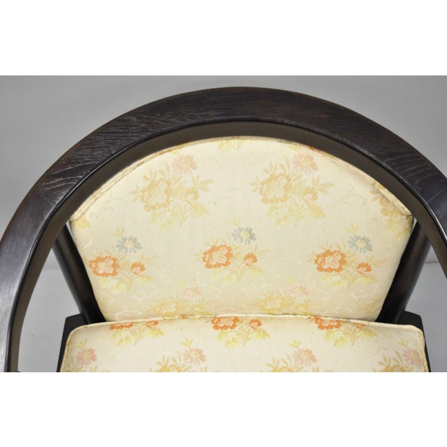 Century Furniture Century Chair James Mont Horseshoe Ming Style Lounge Armchairs - a Pair For Sale - Image 4 of 11