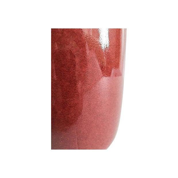 Maitland-Smith Oxblood Red Vase - Image 5 of 5