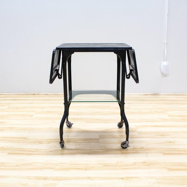 Black Industrial Bar Cart - Image 2 of 9