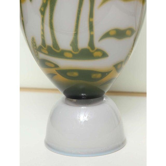 Glass Swedish Studio Glass Vase by Wilke Adolfsson For Sale - Image 7 of 9