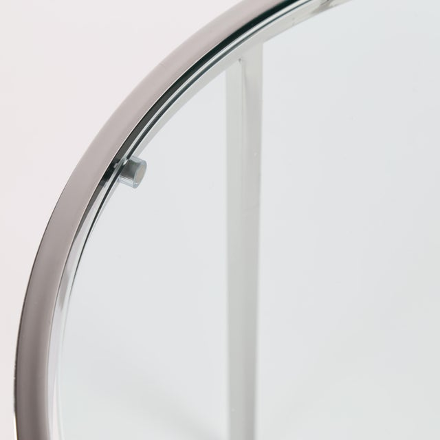 Chrome 1970's VINTAGE MILO BAUGHMAN ROUND CHROME SIDE TABLE For Sale - Image 7 of 8