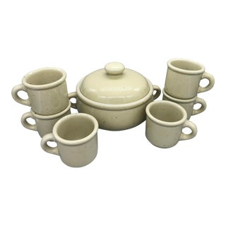 Trend Pacific's Galaxy Wheatstone Casserole and Mugs - 7 Pieces