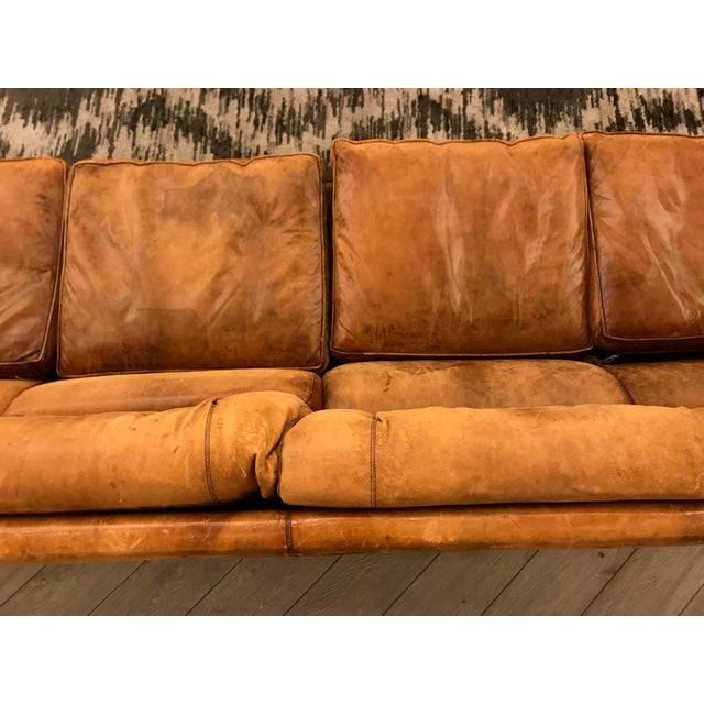 1900s Large Leather Sofa For Sale - Image 5 of 11