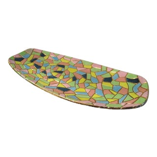 Mid-Century Modern Mosaic Design Tray For Sale
