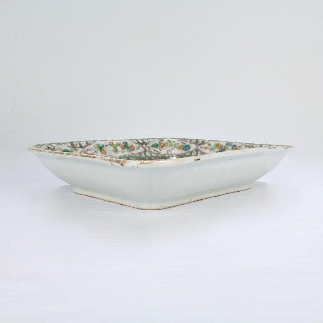 Antique Chinese Export Porcelain Famille Verte Bowl For Sale - Image 9 of 13
