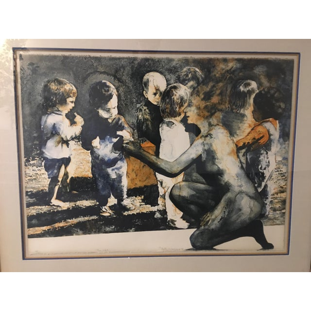 """""""The Gift"""" Ruth Weisberg Lithograph For Sale - Image 4 of 11"""
