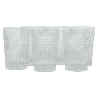 Val Saint Lambert Cut Crystal Highball/Tumblers - Set of 6 For Sale