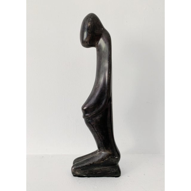 Soapstone 1980s Contemporary Black Soapstone Sculpture For Sale - Image 7 of 9