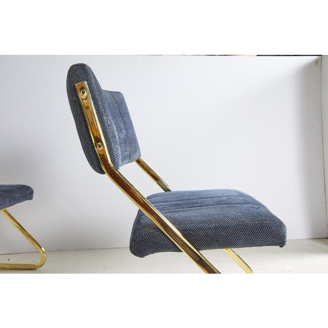 Metal Set of Six Vintage Brass Cantilever Dining Chairs by Douglas Furniture For Sale - Image 7 of 12