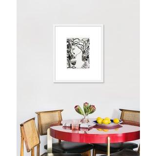 "Medium ""Flowers and Wine in Black"" Print by Leslie Weaver, 20"" X 23"" Preview"