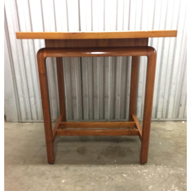 Wood Risom Style Floating Top Side Table For Sale - Image 7 of 10