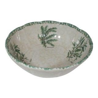 Vintage Ceramica Due Torri Italian Serving Bowl For Sale