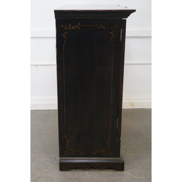 Traditional Hooker Furniture Seven Seas Black TV Armoire Cabinet For Sale - Image 3 of 10