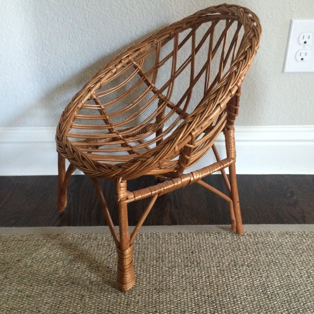 Vintage Child's Wicker Chair - Image 3 of 6