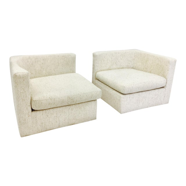 Vintage Mid-Century Modern Milo Baughman Arm Chairs - A Pair - Image 1 of 10