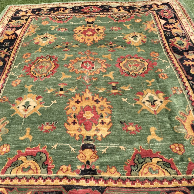 Large Handknotted Nepalese Rug - 9′ × 11′9″ - Image 7 of 11