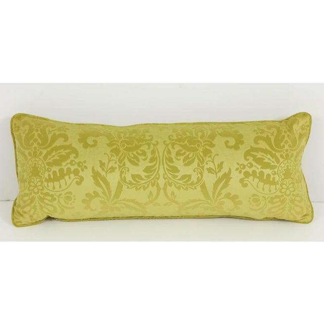 Fabric Long Damask Cushion For Sale - Image 7 of 7