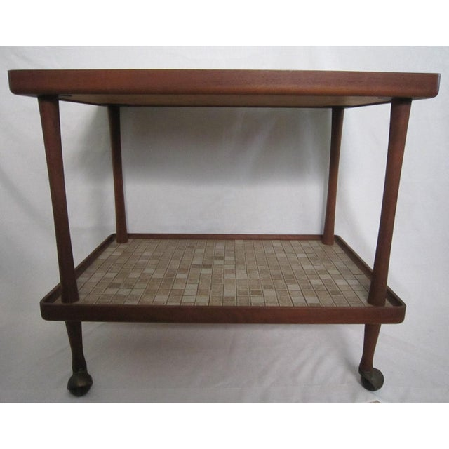 Mid-Century Modern Danish Modern Teak Tea Cart For Sale - Image 3 of 6