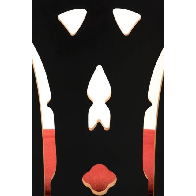 Pair of Robert Venturi Chippendale Chairs for Knoll For Sale In Santa Fe - Image 6 of 10