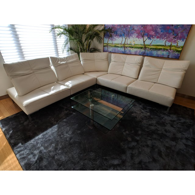 De Sede White Leather L-Shaped Sectional For Sale - Image 10 of 11